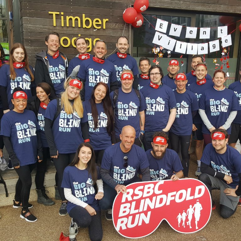 Homewise Team at RSBC Blindfold Run Olympic Park