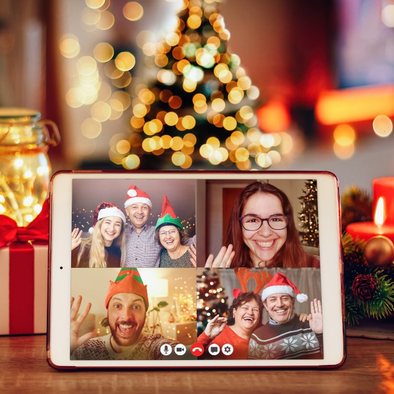 Video call at Christmas