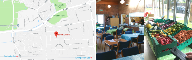 Map and pictures of the Empty Plate Cafe Worthing