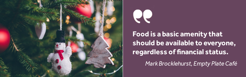 Christmas tree, food quote